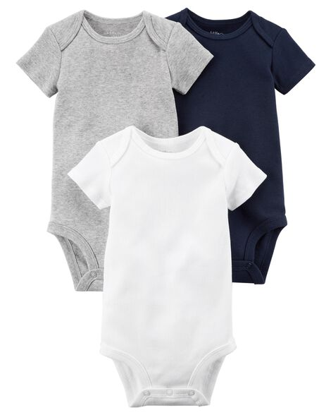 3-Pack Certified Organic Bodysuits