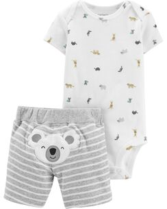 06858b0028a5 2-Piece Koala Bodysuit   Short Set