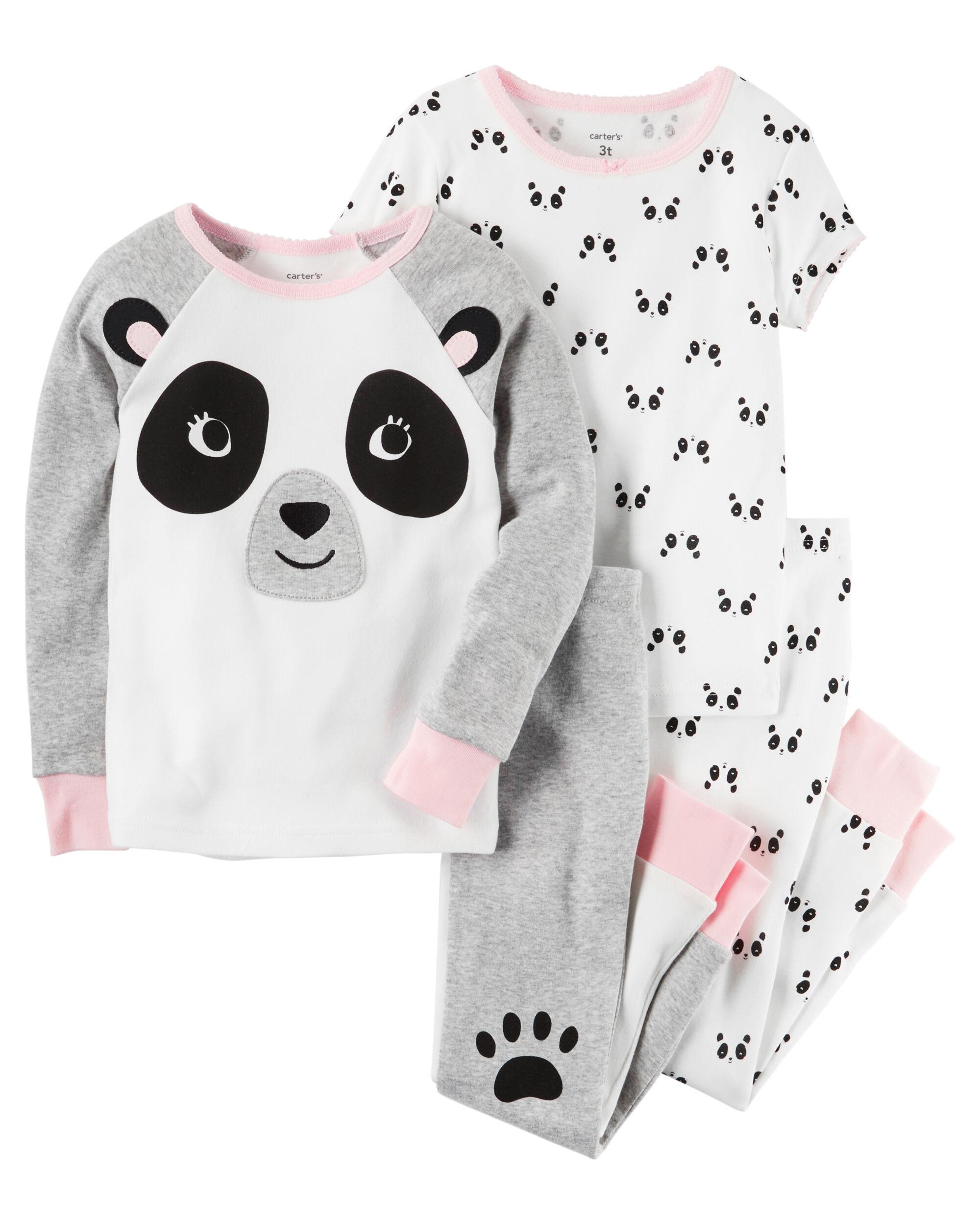 4 Piece Panda Snug Fit Cotton Pjs Carters Com