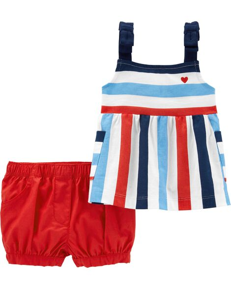 2-Piece 4th Of July Tank & Short Set