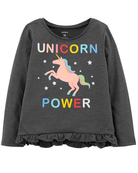 Unicorn Power Hi Lo Ruffle Tee