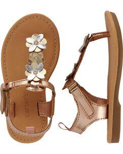 70d059afcd2 Carter s Metallic Floral Sandals
