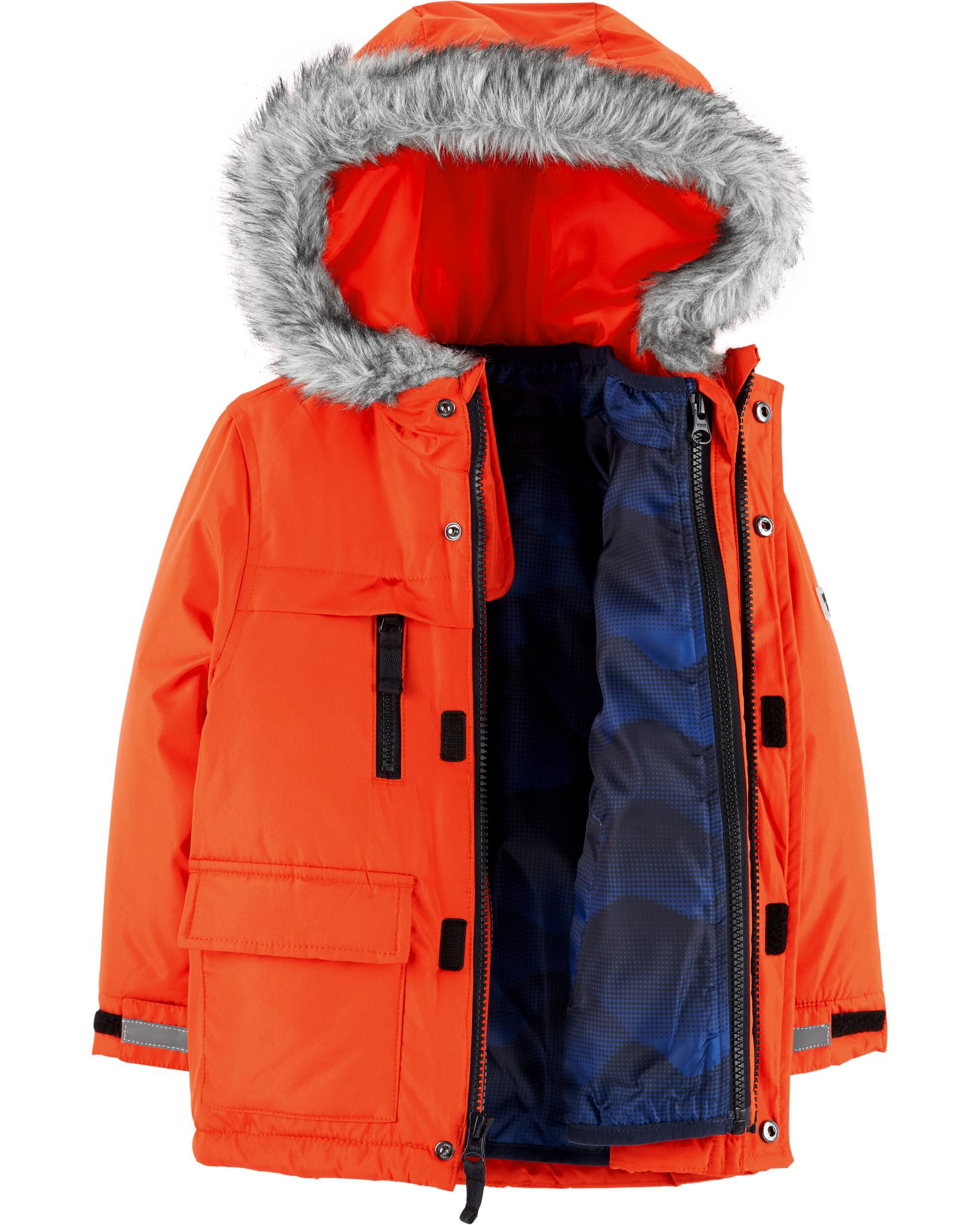 20082cb0305b Kid Boy Fur Trim 4-in-1 Jacket