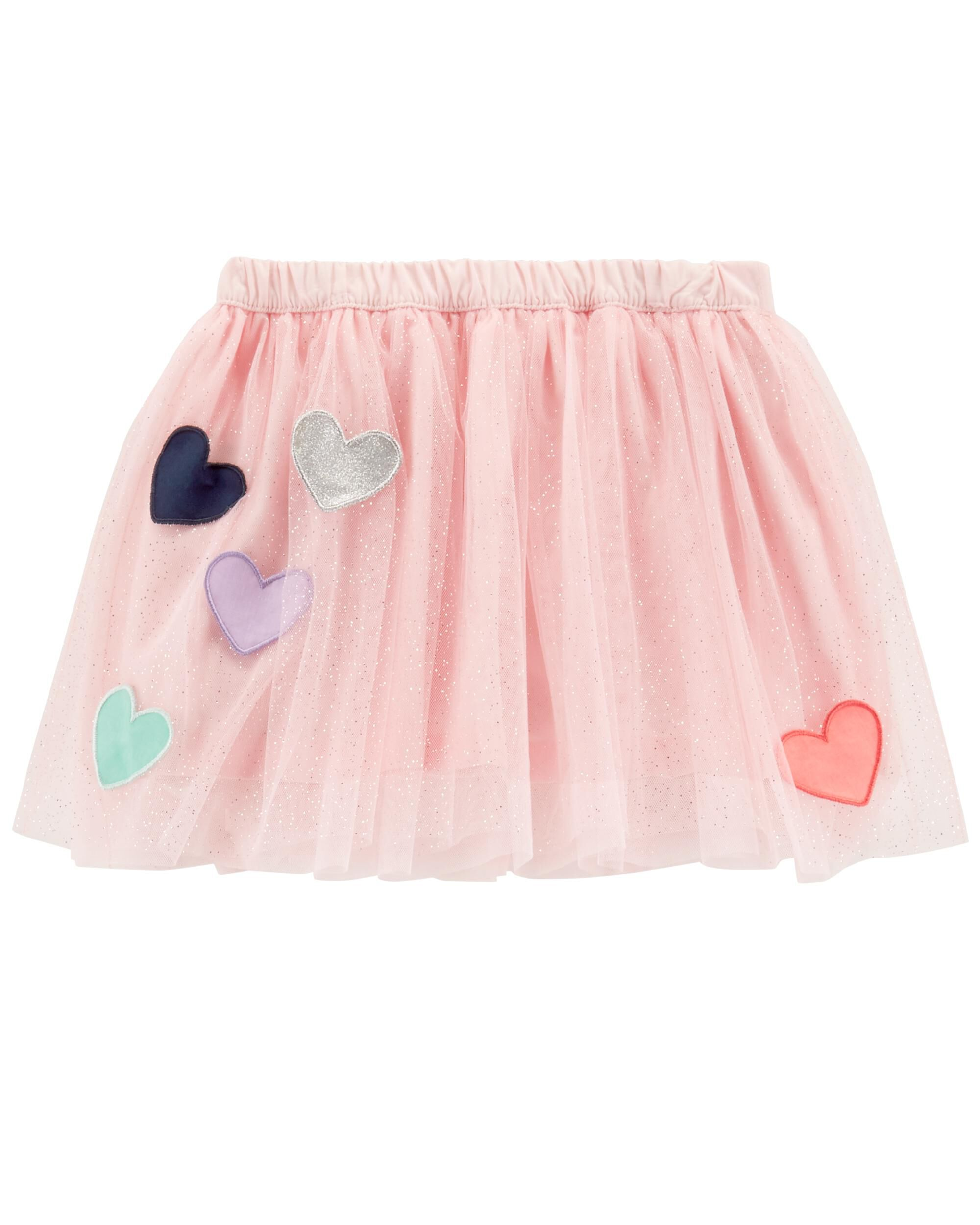 Carters Girls 2T-8 Tulle Skirt with Applique