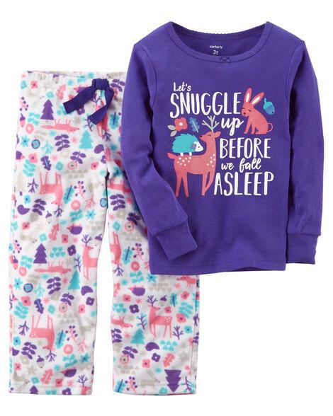 135fba18d283 2-Piece Snuggle Cotton   Fleece PJs
