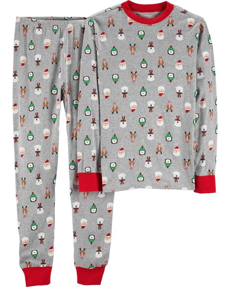 4e1ad2b4a 2-Piece Adult Christmas Cotton PJs