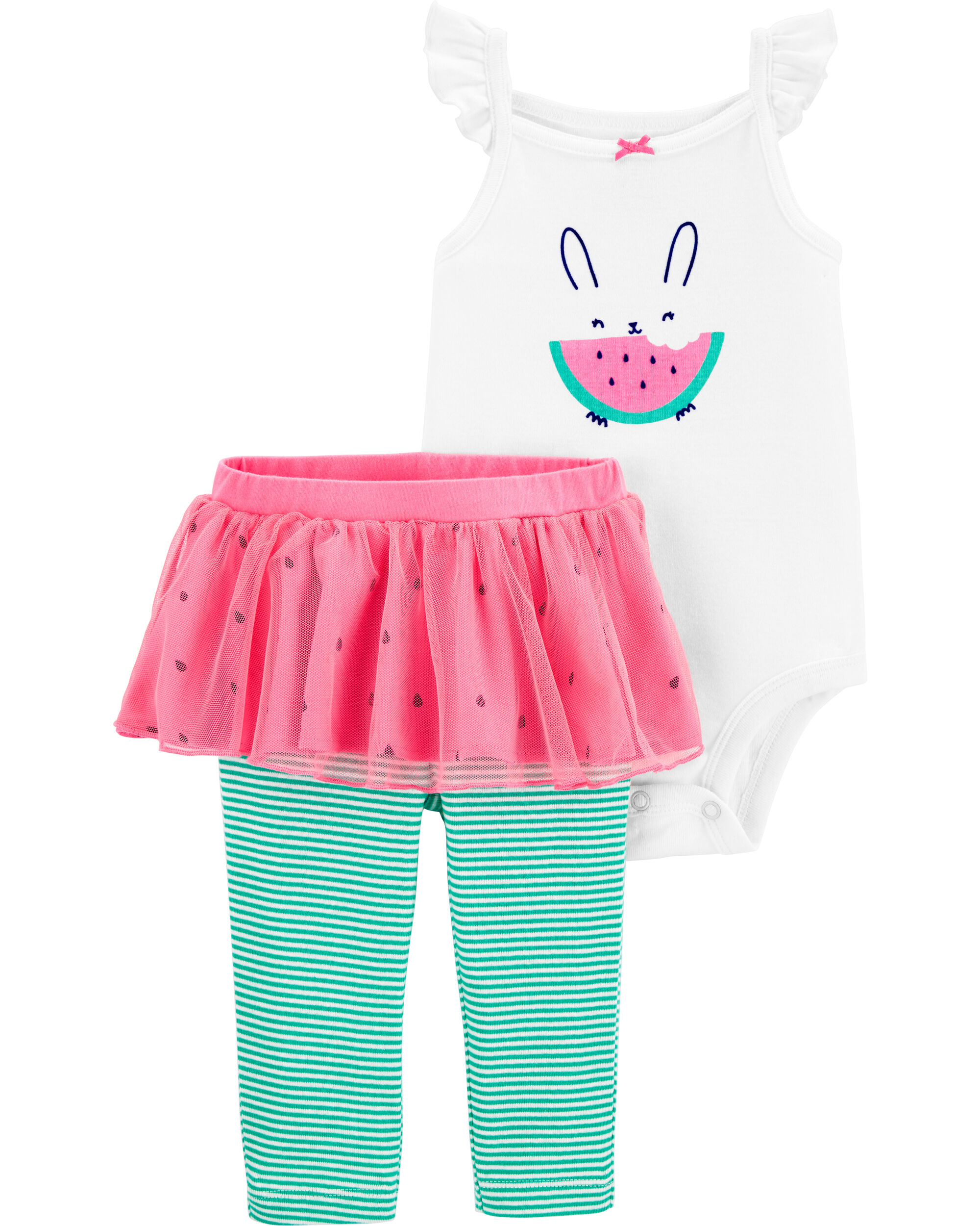 *DOORBUSTER* 2-Piece Watermelon Bodysuit & Tutu Pant Set