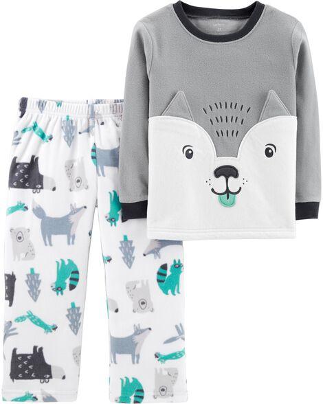4142ae060 2-Piece Wolf Fleece PJs