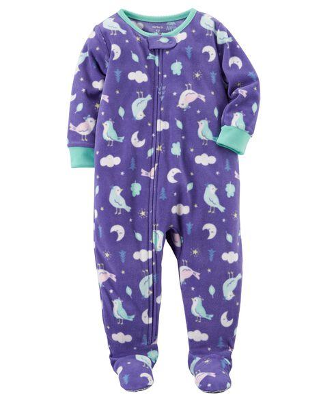 c8e93589f 1-Piece Moon Fleece PJs