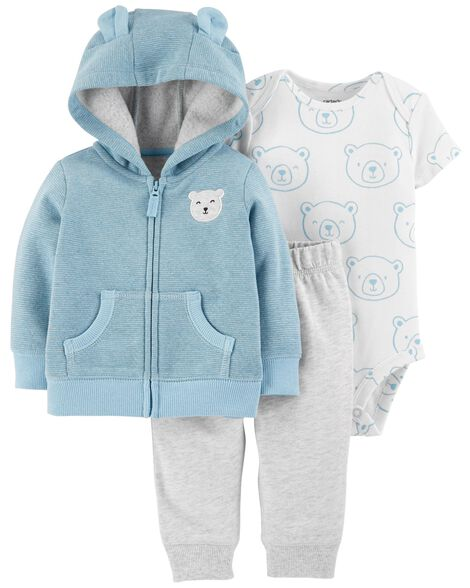 0f446b1d0 3-Piece Bear Little Jacket Set
