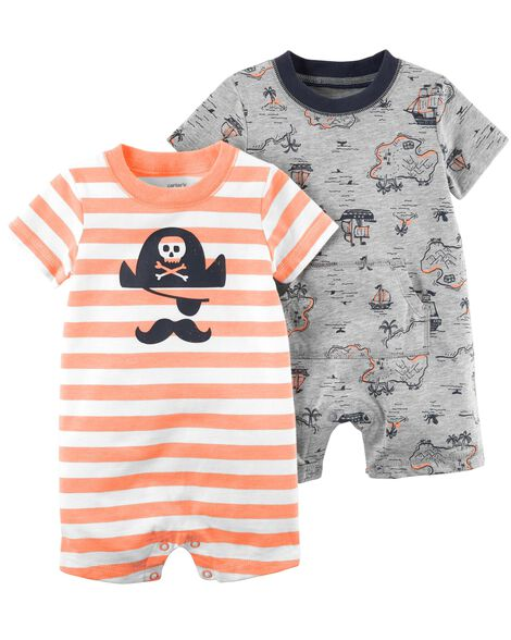 118df52ed484 2-Pack Pirate Rompers