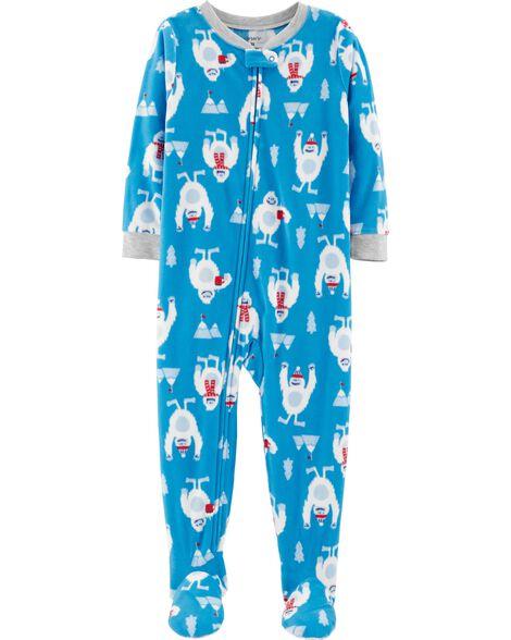 20a6b3992 1-Piece Abominable Snowman Fleece PJs | Carters.com