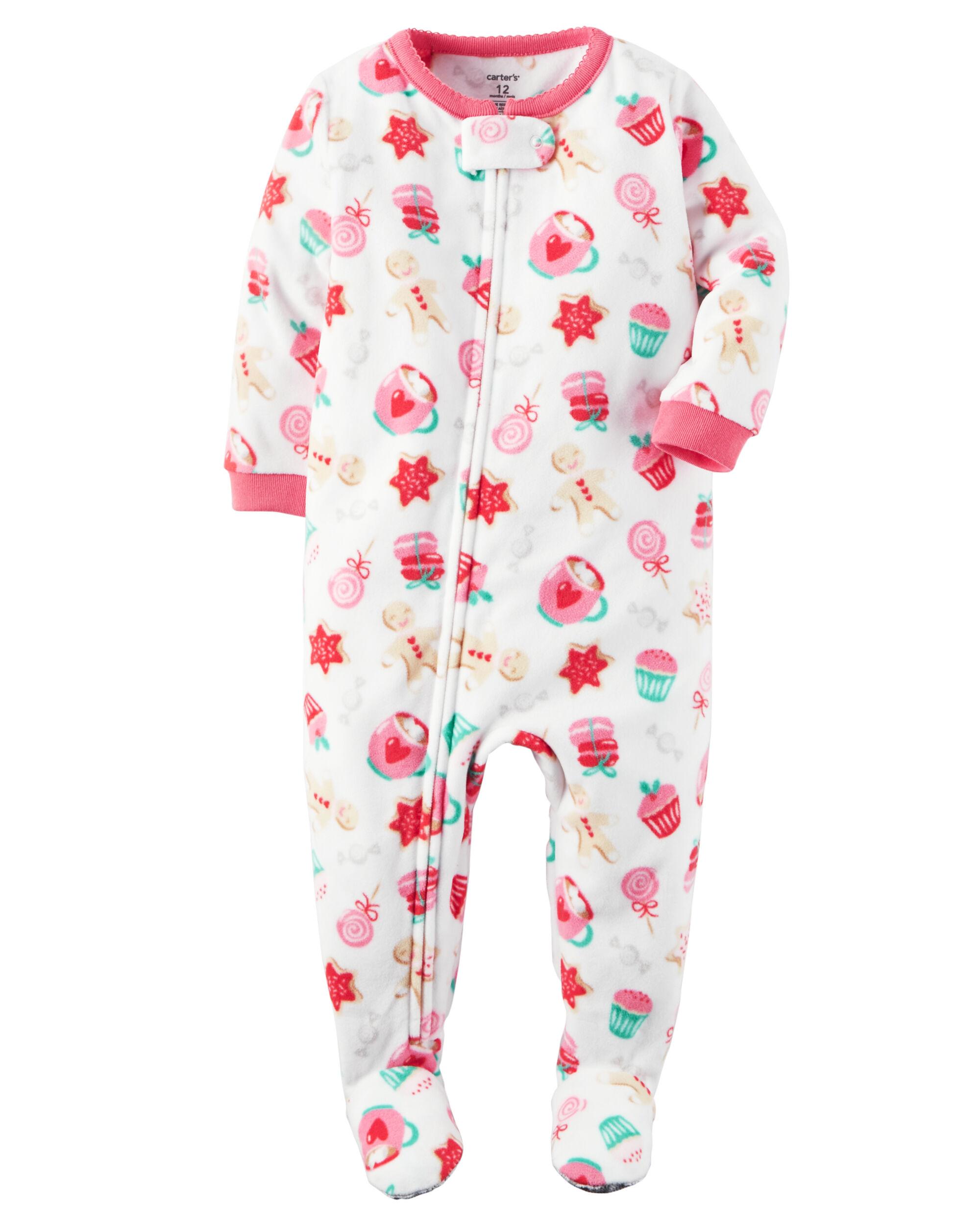 1-Piece Fleece Christmas PJs   Carters.com