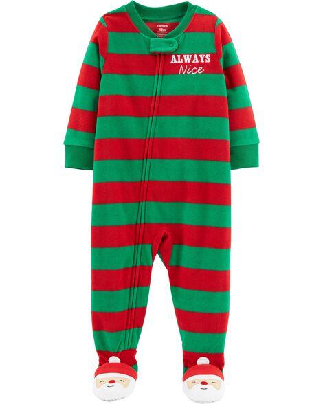 27cdc2a2cb36 1-Piece Toddler Christmas Fleece PJs