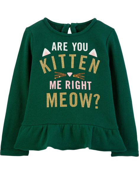 491cb8958210 Are You Kitten Me Sequin Ruffle Top