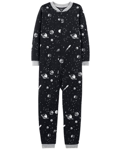 d4cf039cd 1-Piece Space Fleece Footless PJs