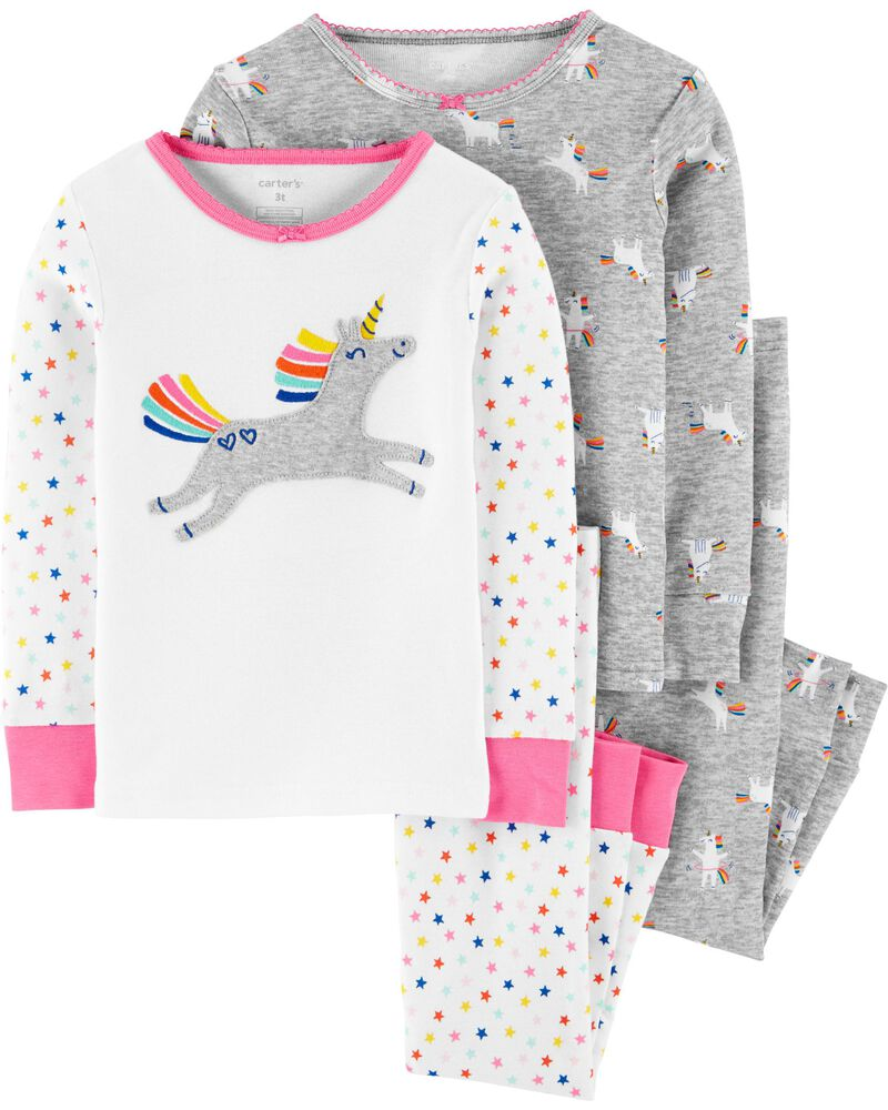 NWT ☀FOOTED FLEECE☀ CARTERS Girls Pajamas BOWS New YOU PICK 18m 24m   3T 4T 5T
