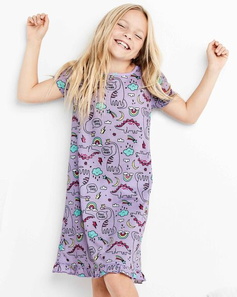 2-Pack Dinosaurs Nightgowns