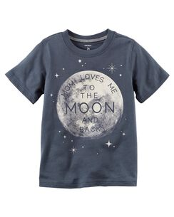 Mom Loves Me To The Moon Jersey Tee