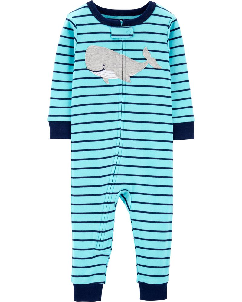 New Carter/'s Baby Toddler Boys Whale Cotton Footless Pajamas PJs Snug Fit