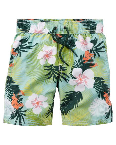 Carter's Tropical Print Swim Trunks