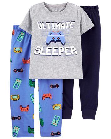 NWT Carters Boys Girls Size 14 Fleece Footed Feety Feet Pajamas Stripes Striped
