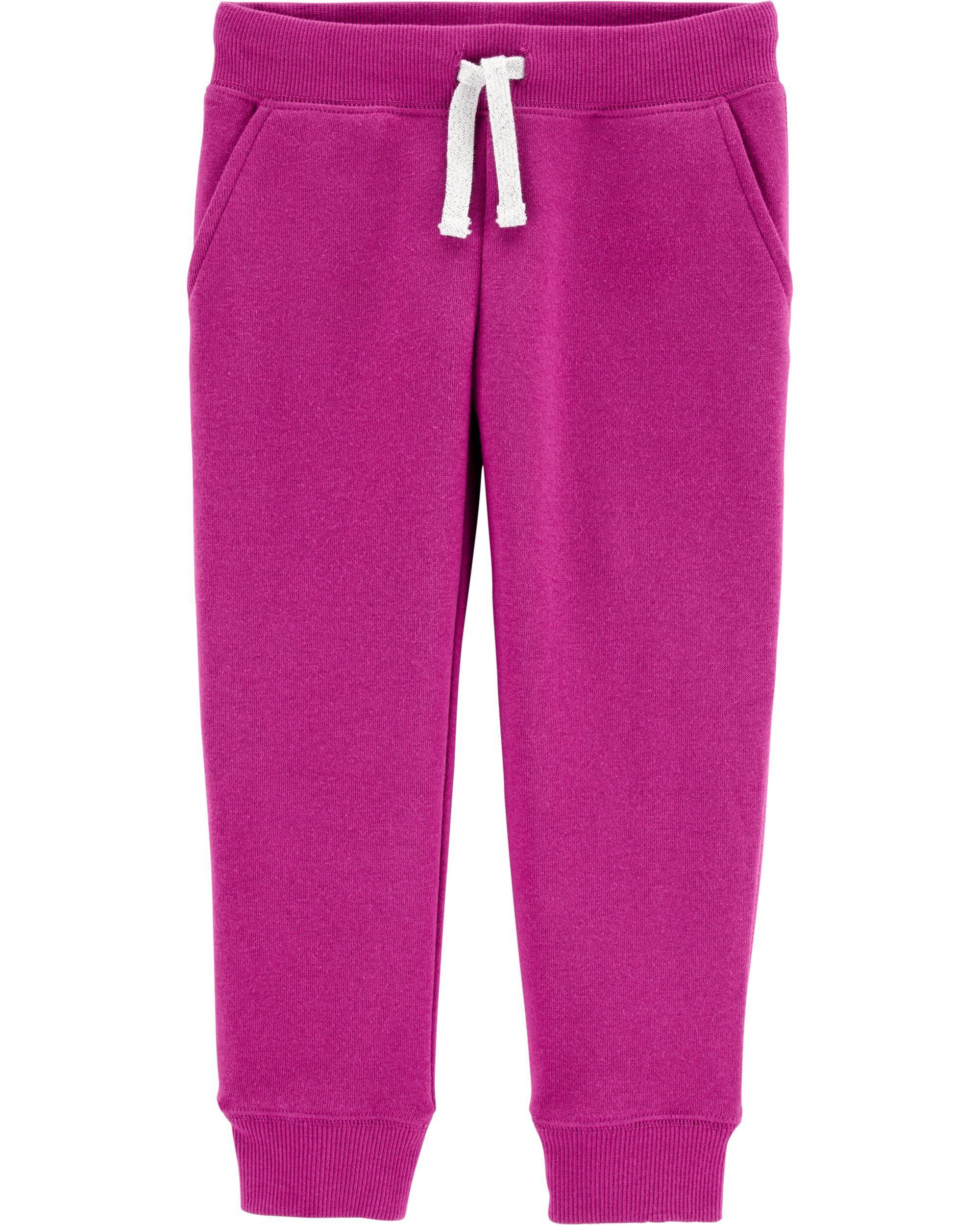 Carters Little Girls Fleece Active Pants