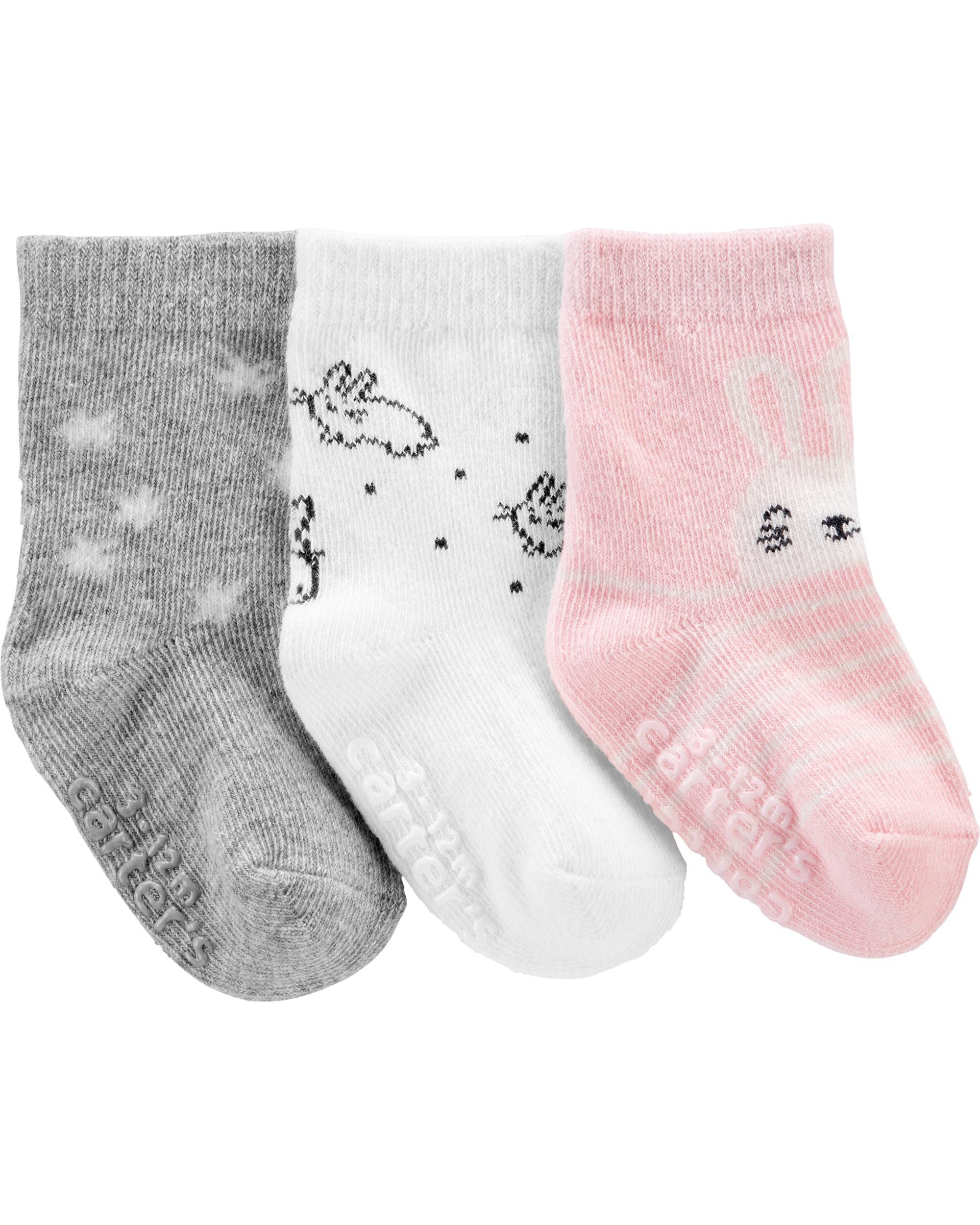 *CLEARANCE* 3-Pack Bunny Crew Socks