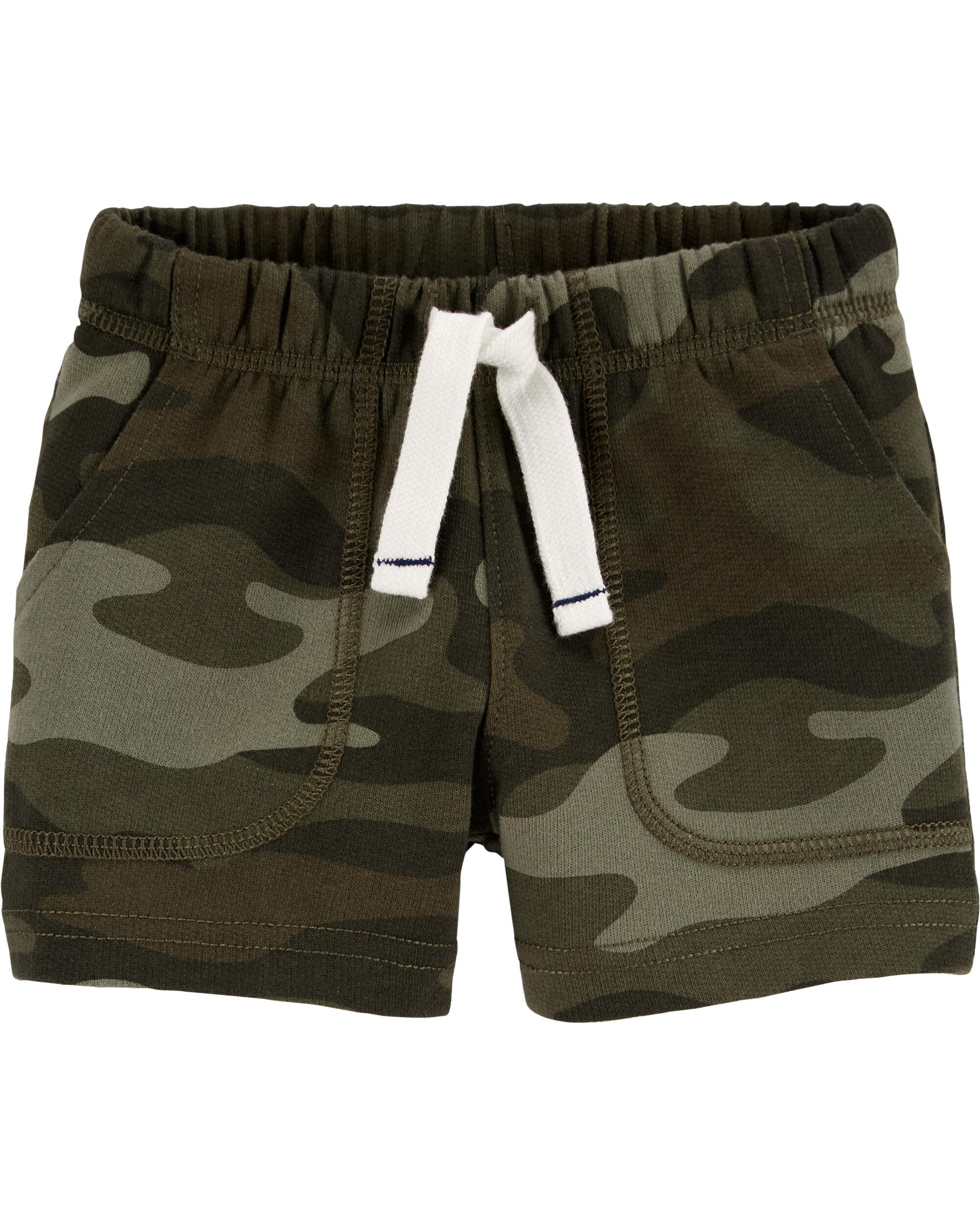 *DOORBUSTER* Camo Pull-On French Terry Shorts