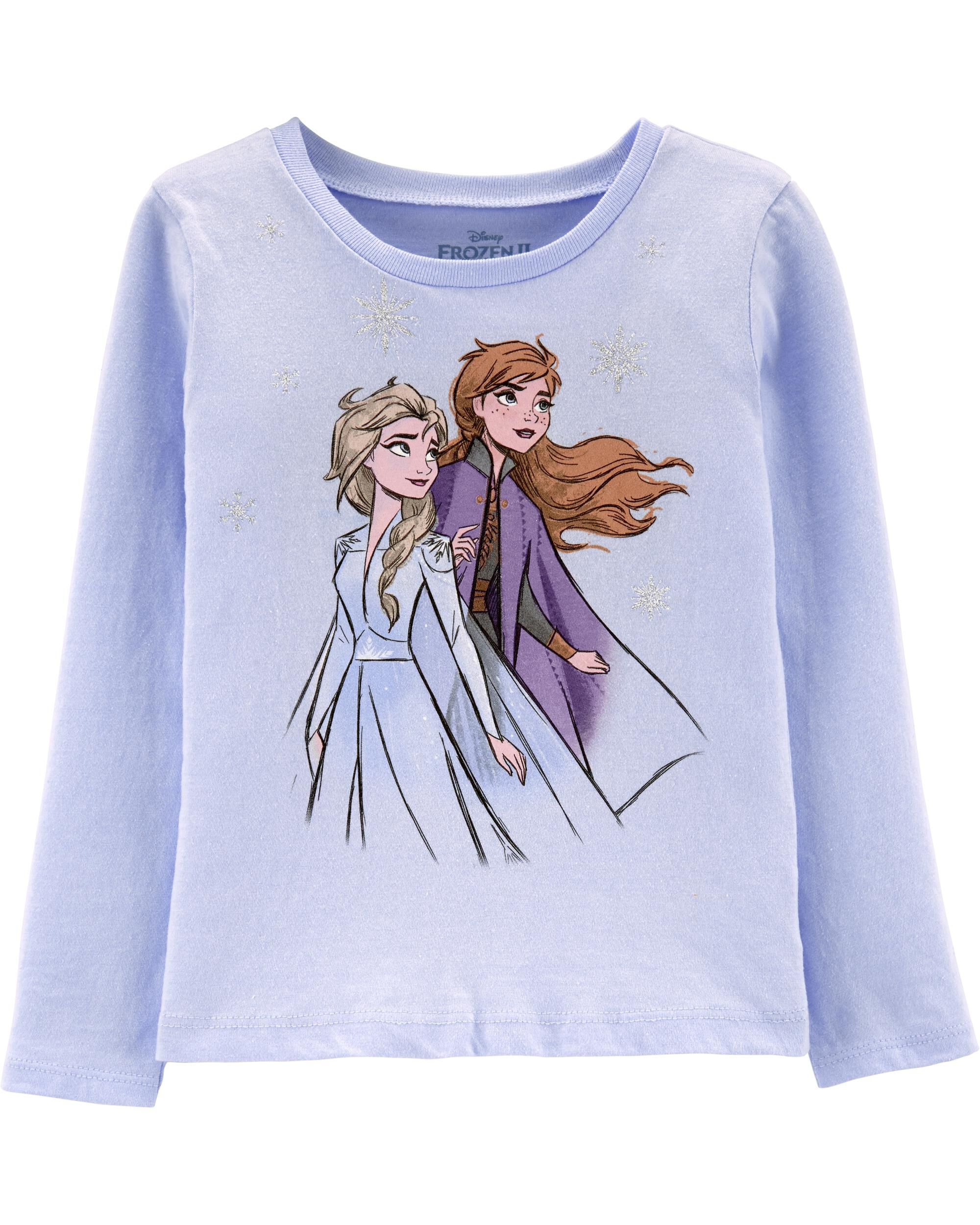 PCLOUD Frozen Childrens Solid Color Casual Long Sleeve T-Shirt