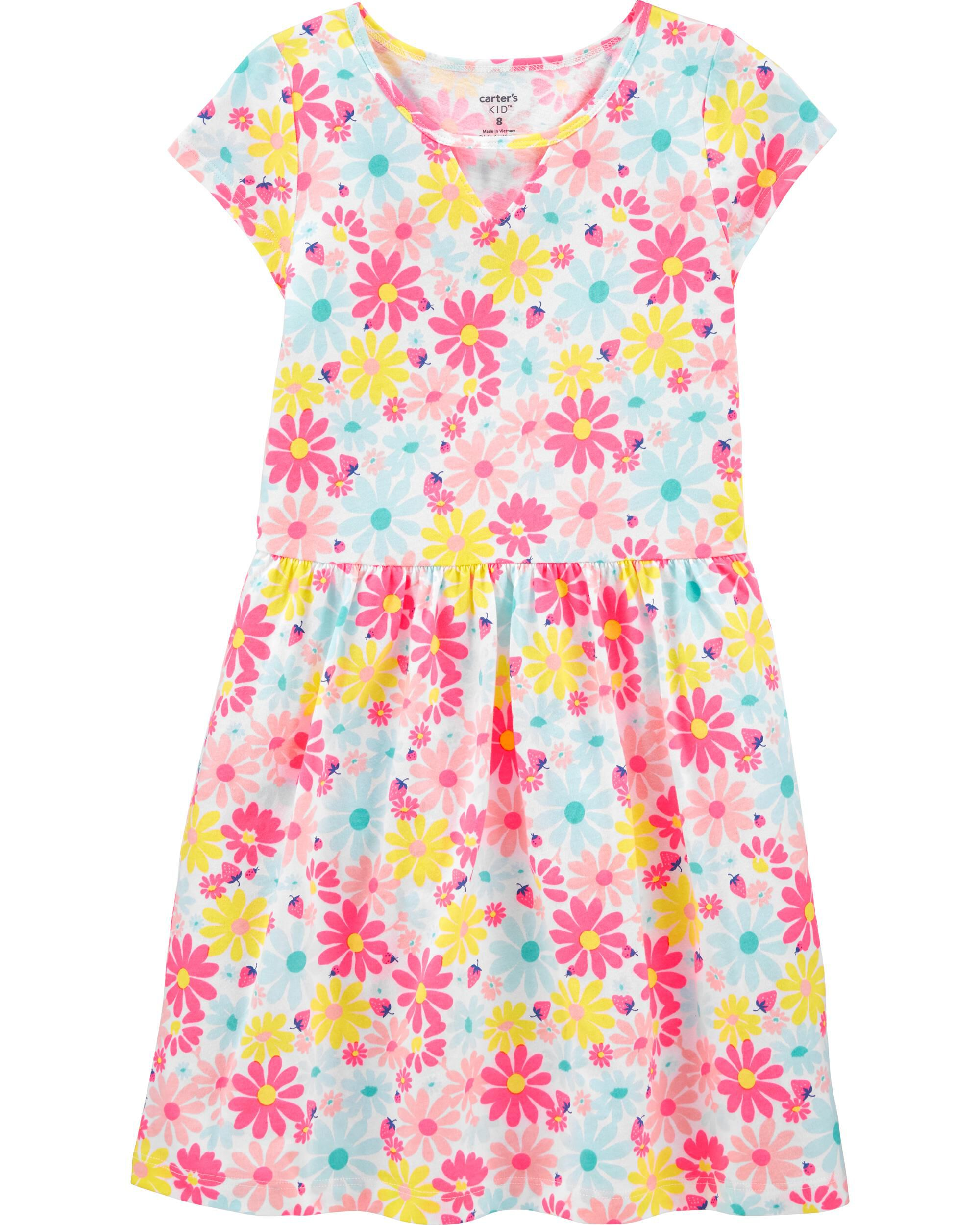 *CLEARANCE* Floral Jersey Dress