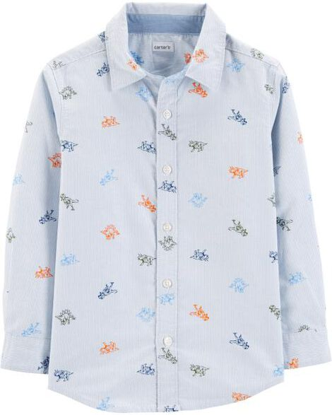 Dinosaur Oxford Button-Front Shirt