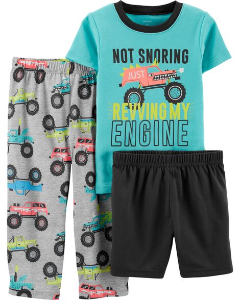 5355bc903 3-Piece Monster Truck Poly PJs