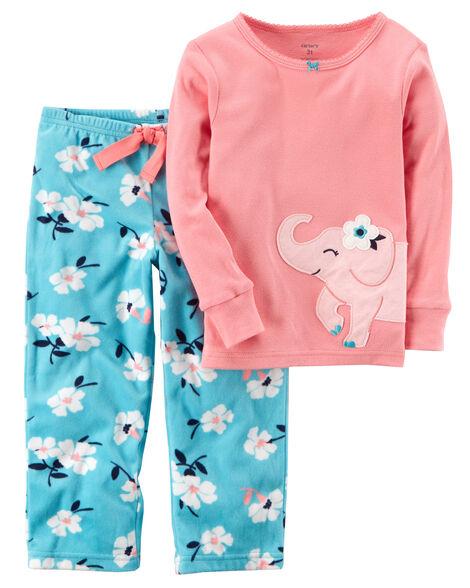 e650a528173 Images. 2-Piece Elephant Cotton   Fleece PJs