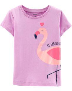 ead2d8fcc4 Glitter Fabulous Flamingo Jersey Tee