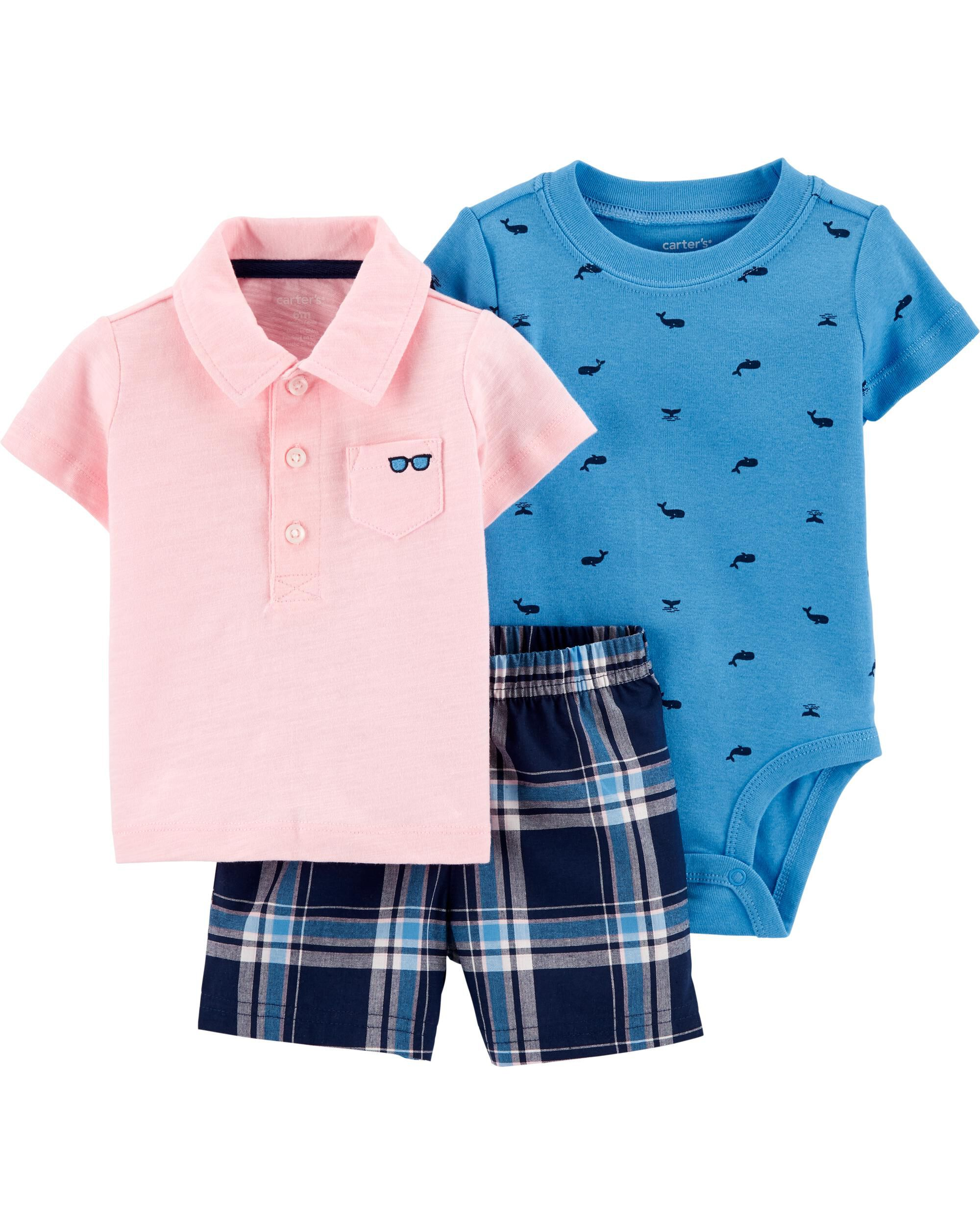 *CLEARANCE* 3-Piece Polo Little Short Set