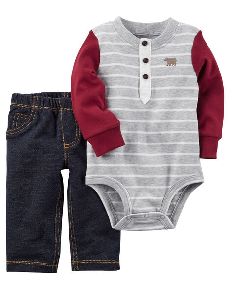 4ba4a429e 2-Piece Bodysuit Pant Set   Carters.com
