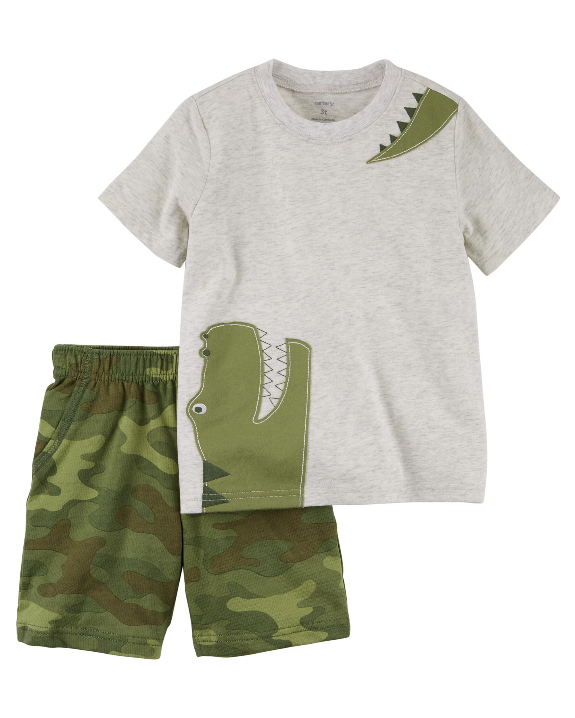 Carters 2 Piece Jersey Top /& French Terry Short Set 12M