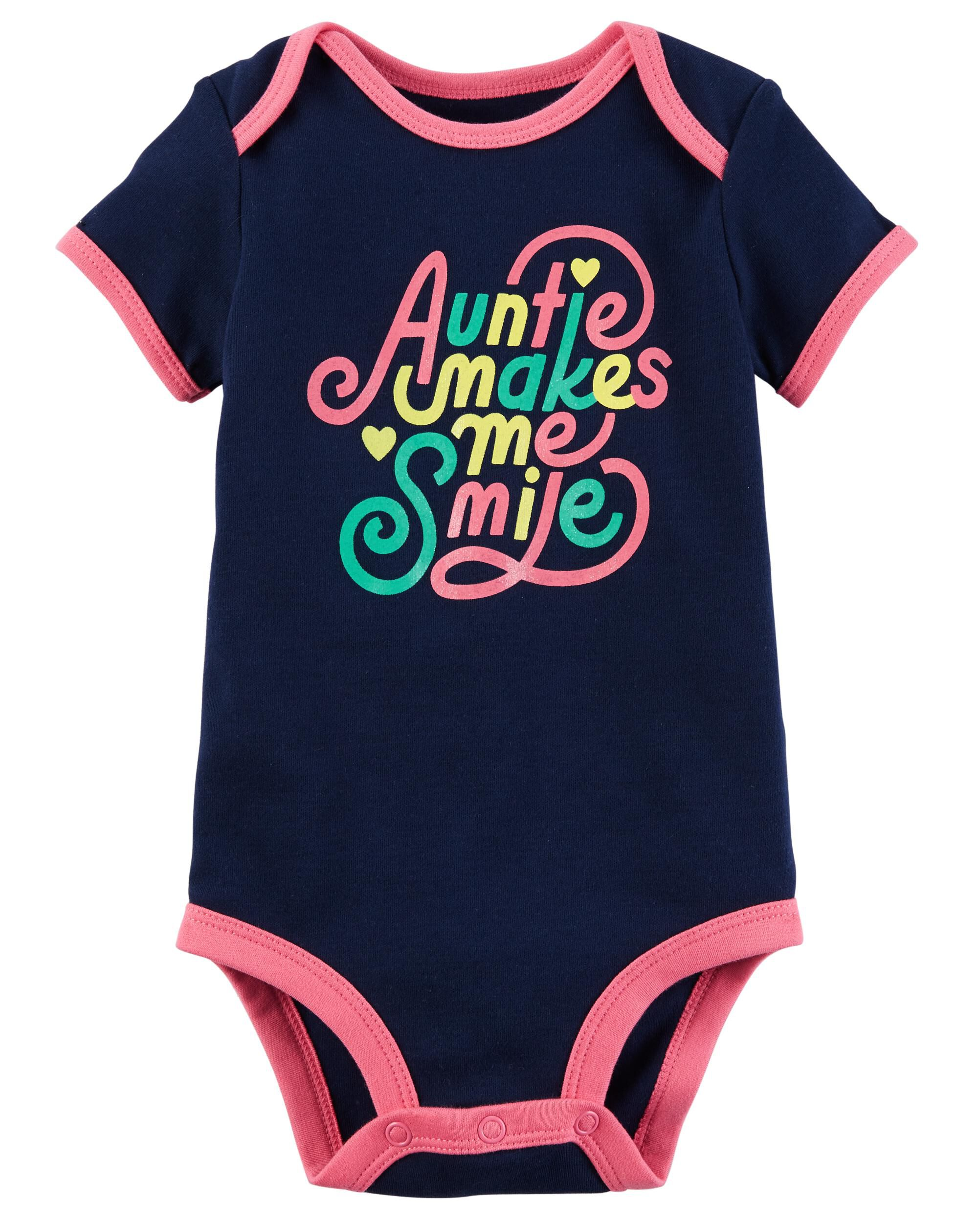 Auntie Makes Me Smile Collectible Bodysuit