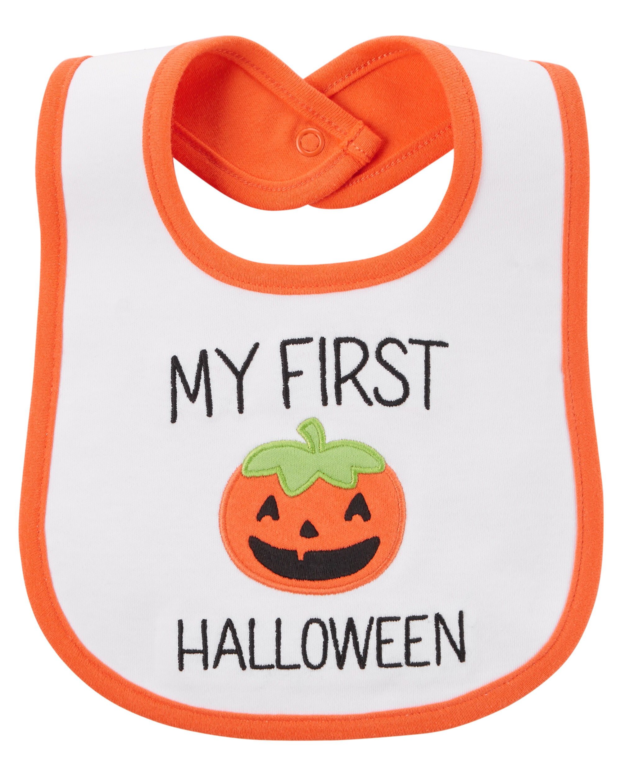 images my first halloween teething bib