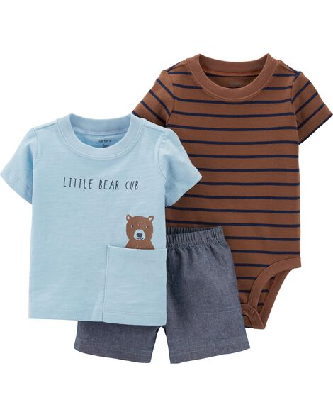 bce672cc0 3-Piece Bear Little Short Set