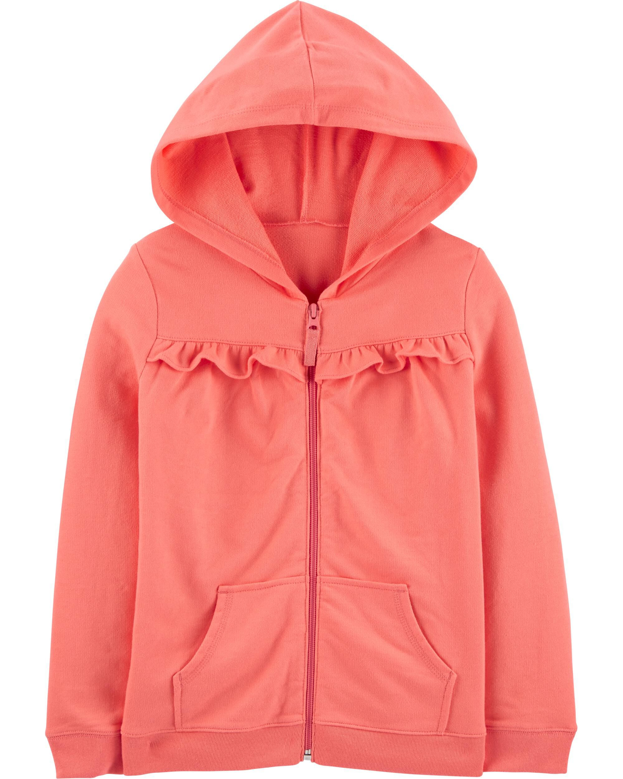 *CLEARANCE* Ruffle Zip-Up French Terry Hoodie