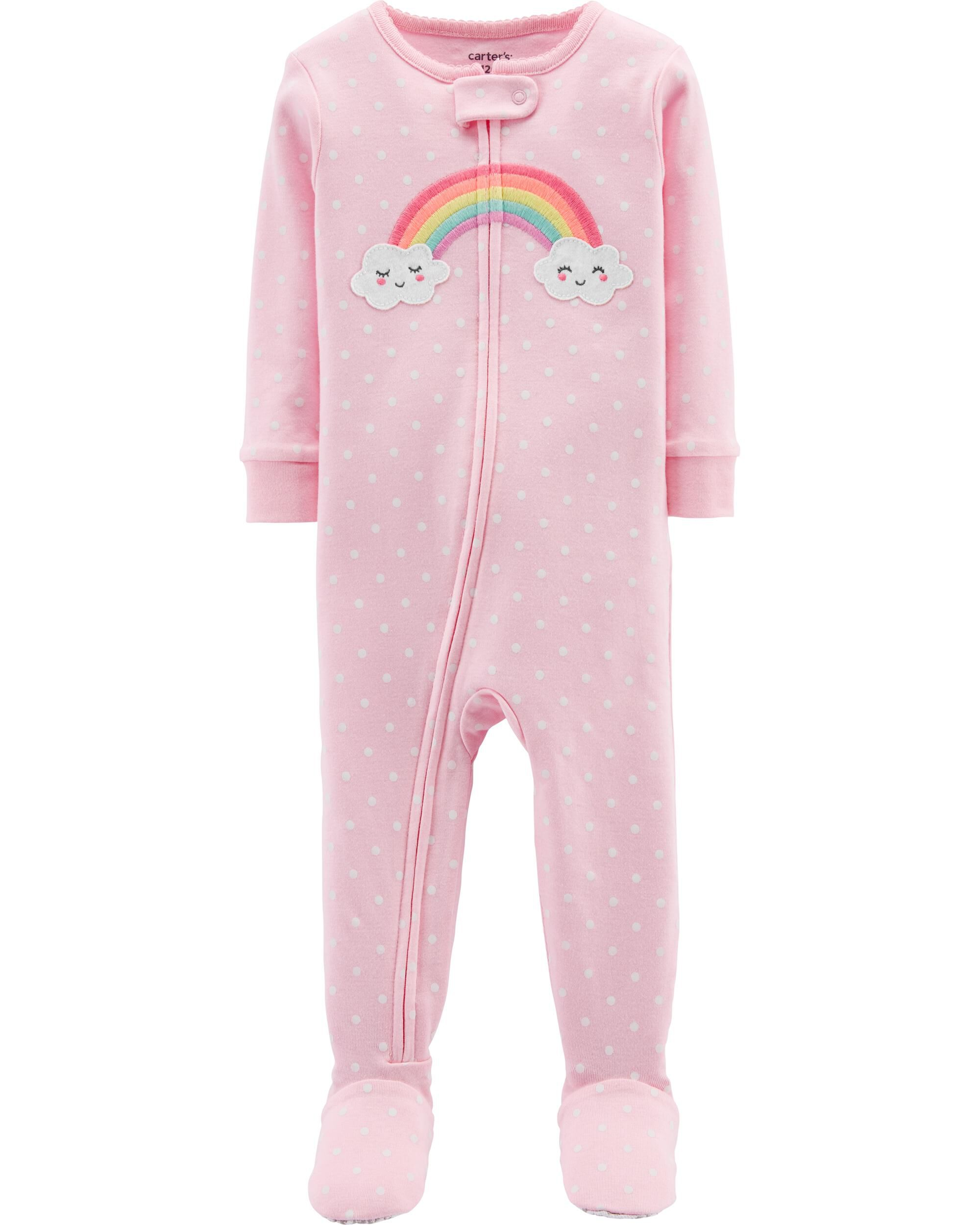 Sleepwear Child Of Mine Carter's Pink Unicorn Princess Pajamas 18 Months