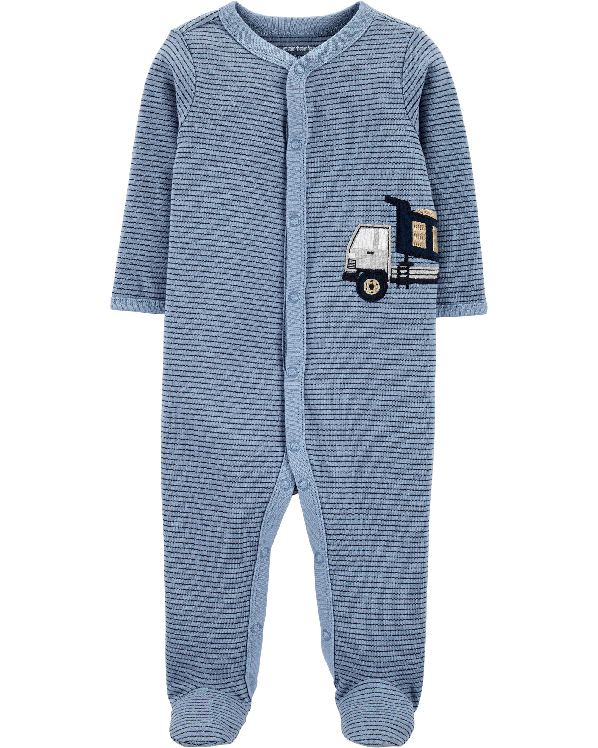 Construction Truck Snap-Up Cotton Sleep & Play