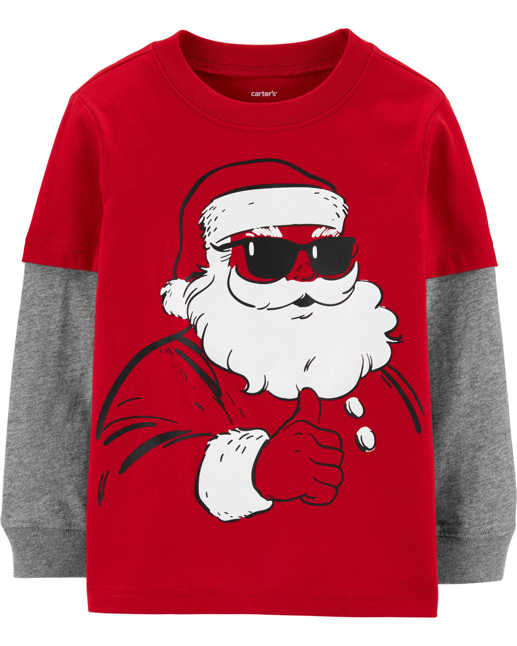 *CLEARANCE* Santa Layered-Look Jersey Tee
