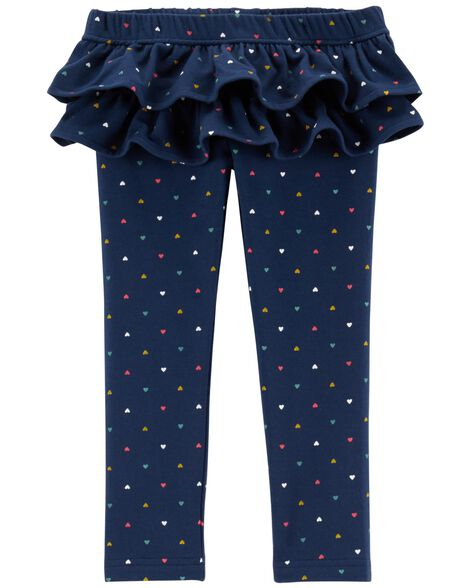Polka Dot Ruffle French Terry Pants