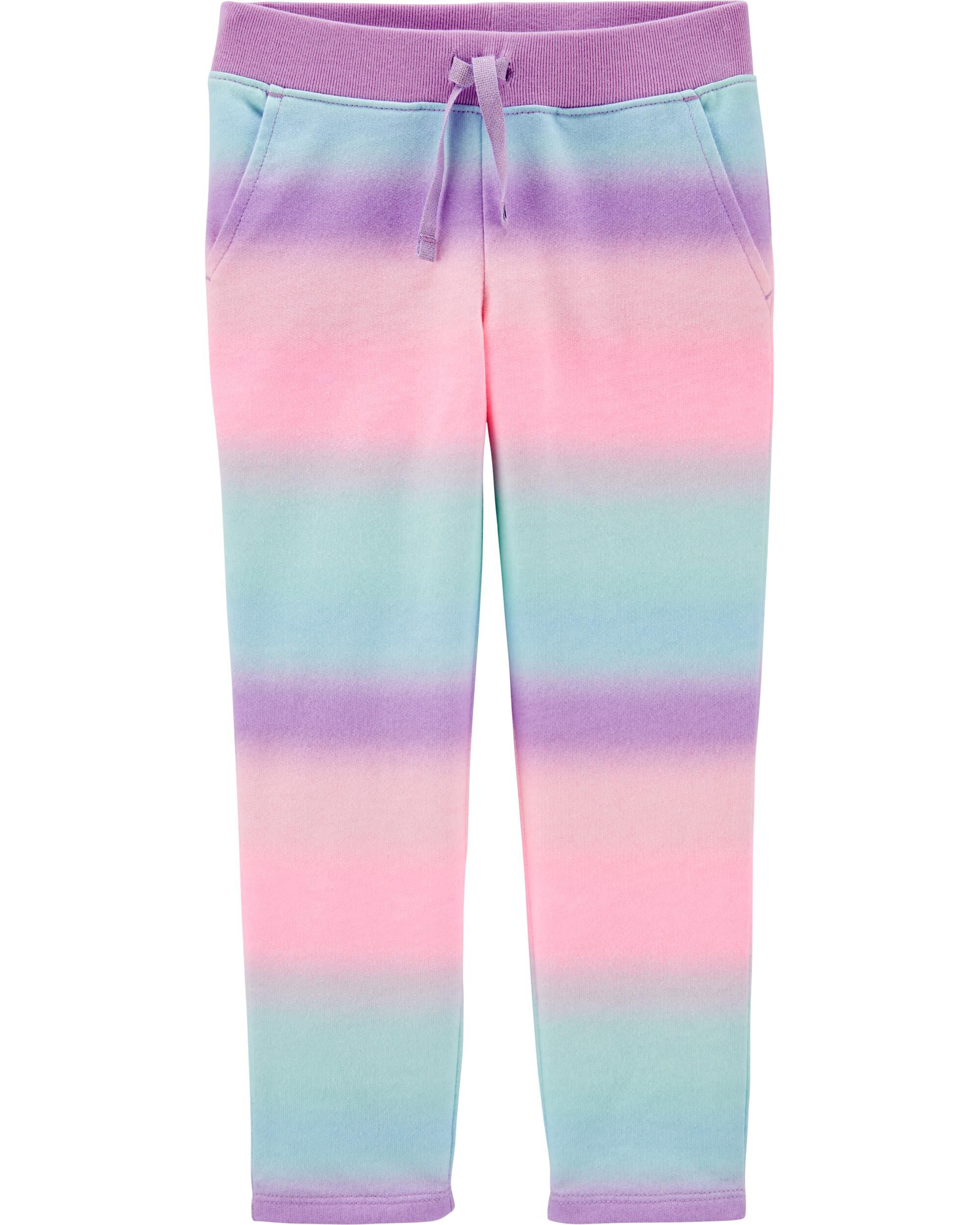 *CLEARANCE* Rainbow Pull-On French Terry Pants
