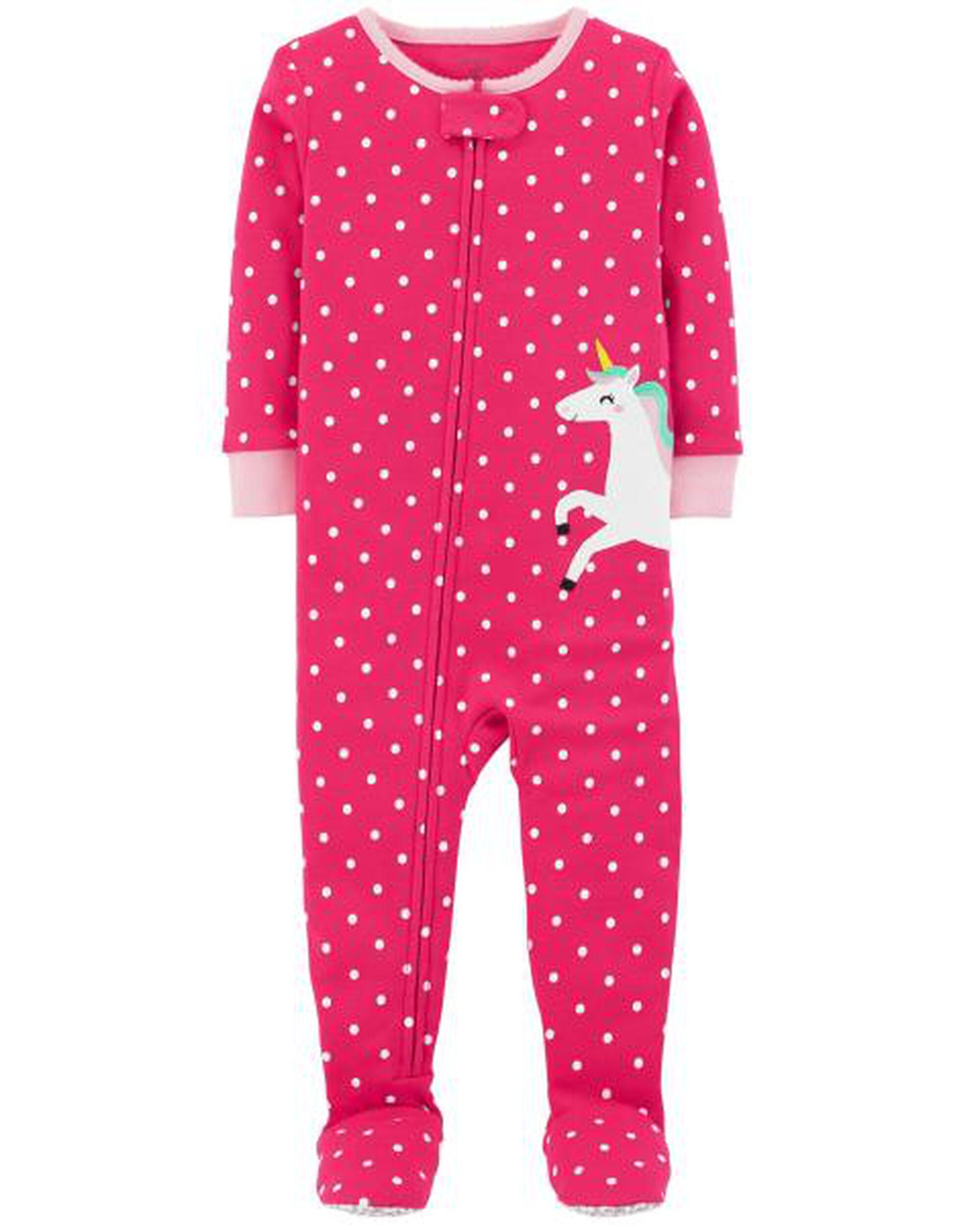 5c4f2dd88 1-Piece Unicorn Snug Fit Cotton PJs