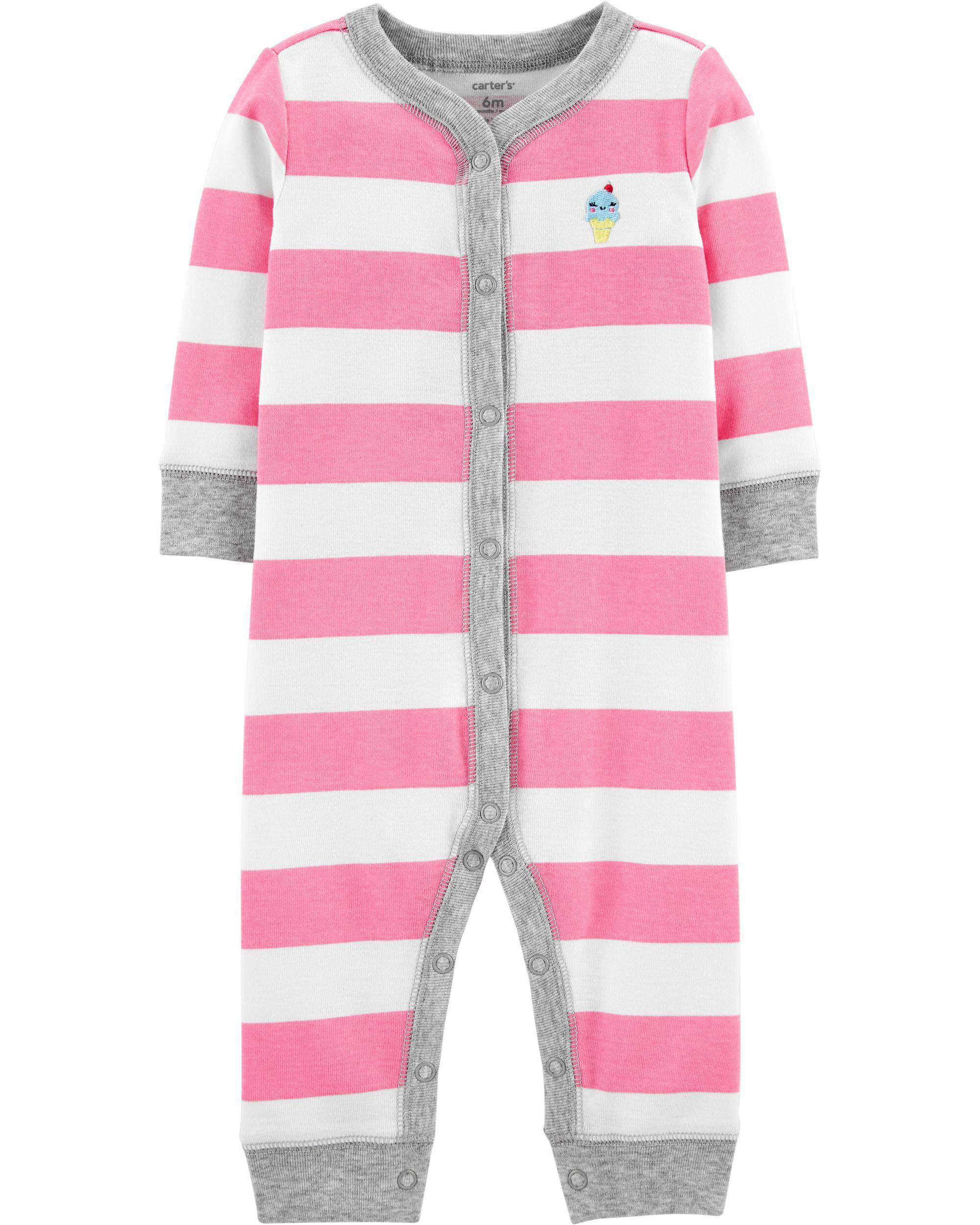 Carters Baby Boys 12-24 Months One Piece Dog Print Cotton Pajamas