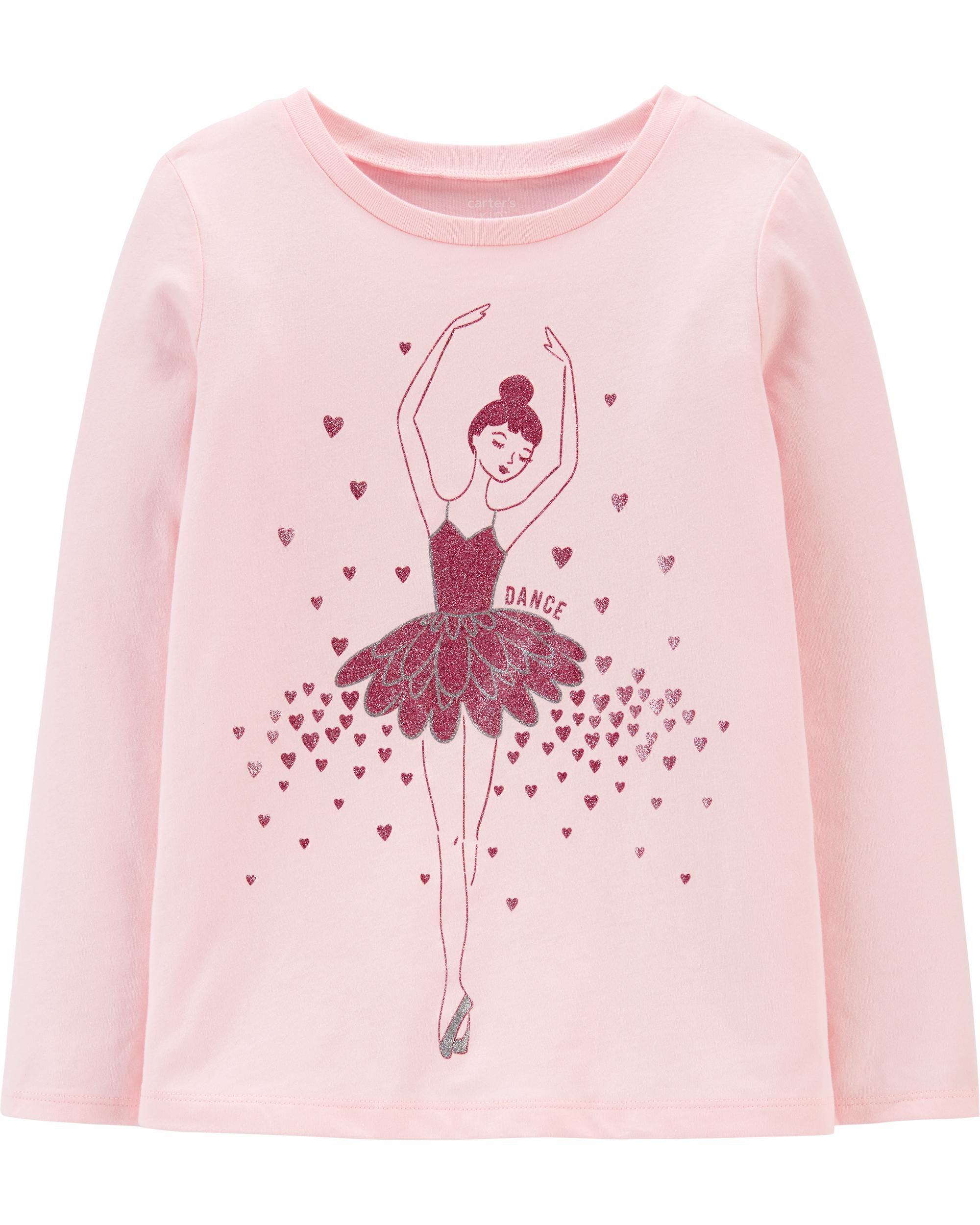 *DOORBUSTER* Glitter Ballerina Jersey Tee